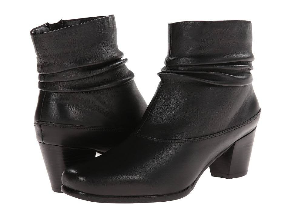 David Tate - Vera (Black Leather) Women's Zip Boots