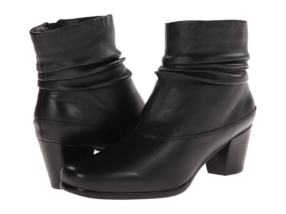 David Tate - Vera (Black Leather) Women's Zip Boots