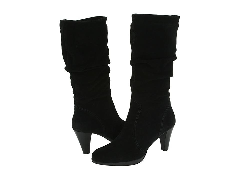 La Canadienne - Mercedes (Black Suede) Women's Dress Pull-on Boots
