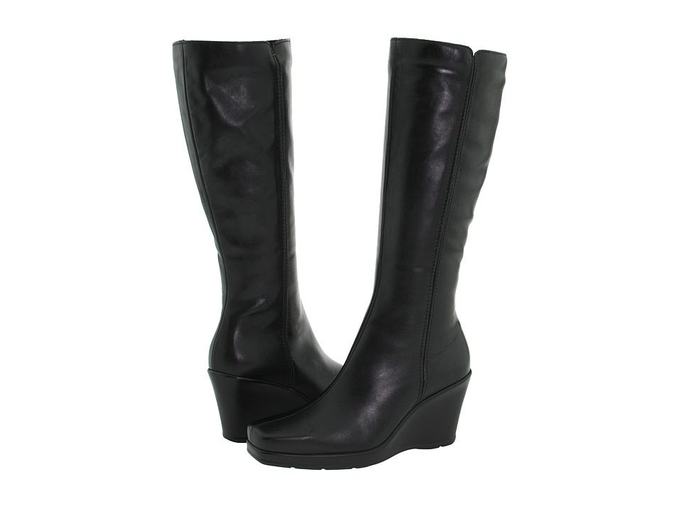 La Canadienne - Ivana (Black Leather) Women's Zip Boots