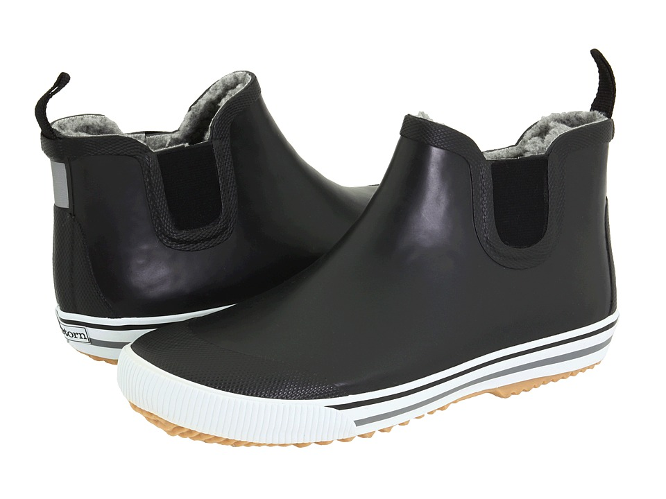 Tretorn - Strala Vinter Rubber Rain Boot (Black/Charcoal Grey) Men