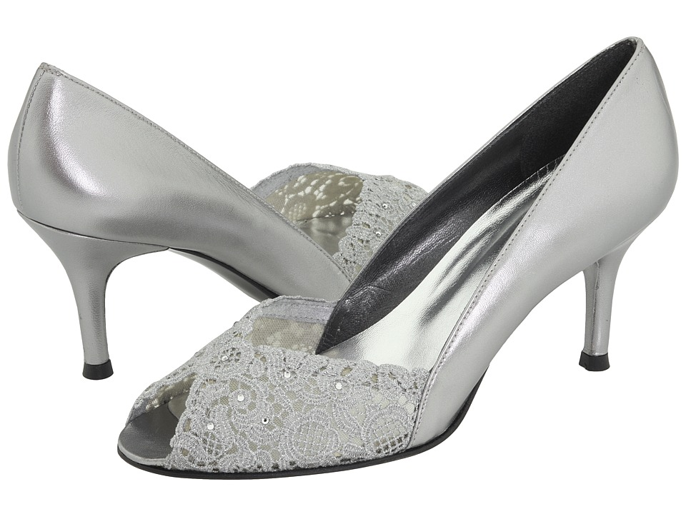 Stuart Weitzman Bridal & Evening Collection - Chantelle (Aluminum Chantilly Lace) High Heels