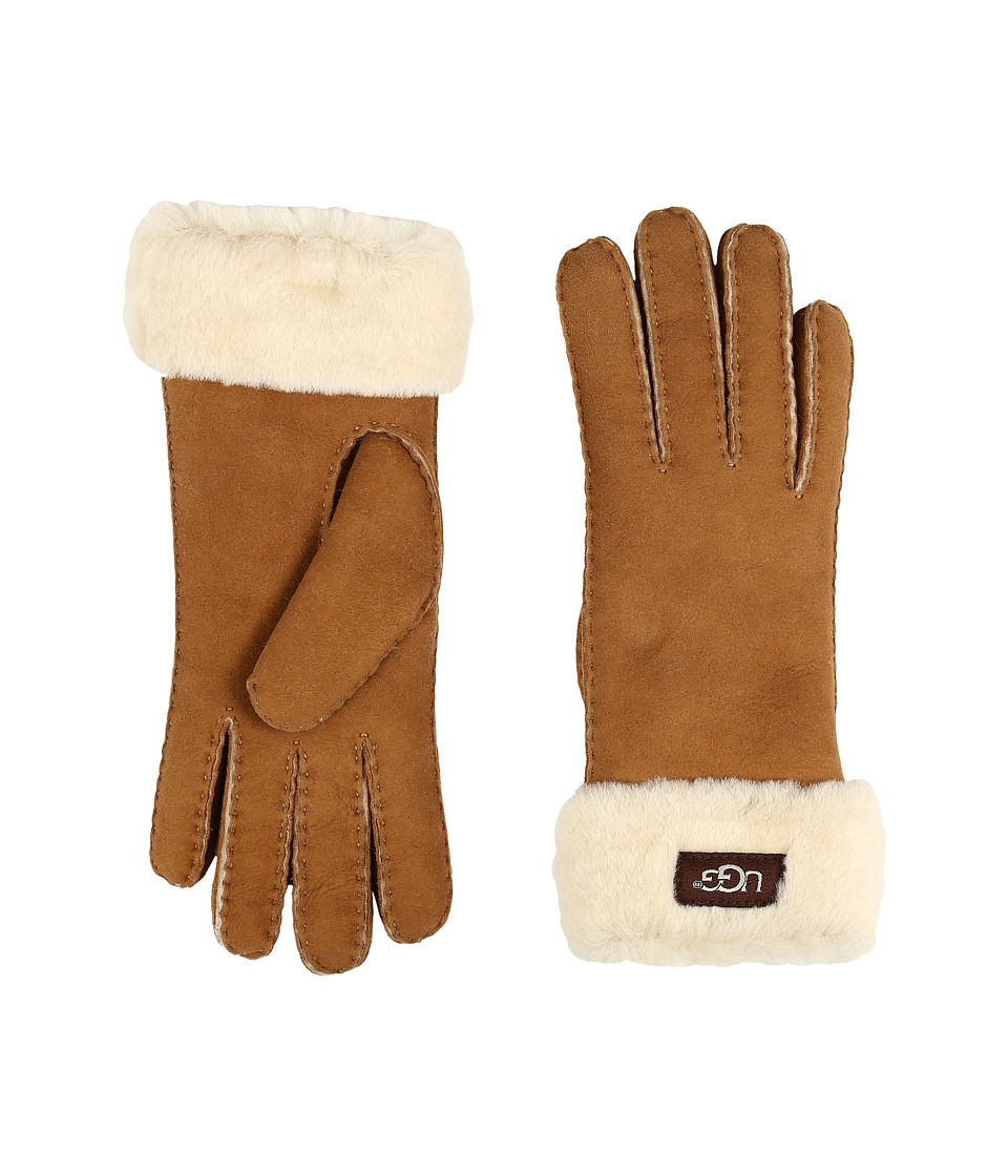 UGG - Classic Turn Cuff Glove (Chestnut) Extreme Cold Weather Gloves