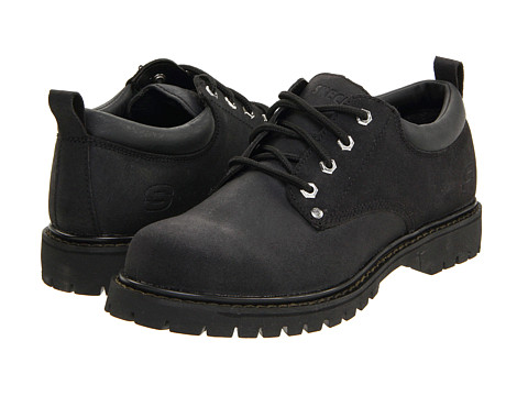SKECHERS - Alley Cats (Black) Men's Lace up casual Shoes