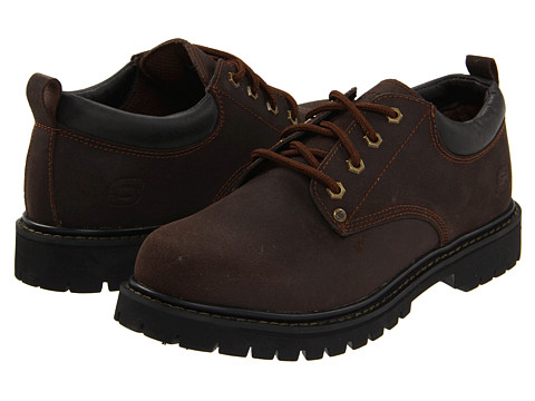 SKECHERS - Alley Cats (Brown) Men's Lace up casual Shoes