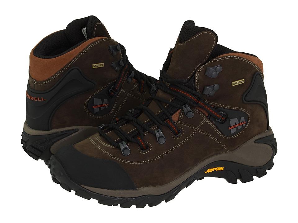 Merrell - Phaser Peak Waterproof (Dark Brown) Men