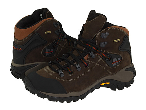 Merrell - Phaser Peak Waterproof (Dark Brown) Men