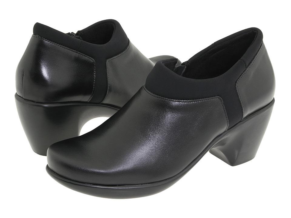 Naot Footwear - Gleam (Black Madras Leather/Black Stretch) Women's Dress Zip Boots