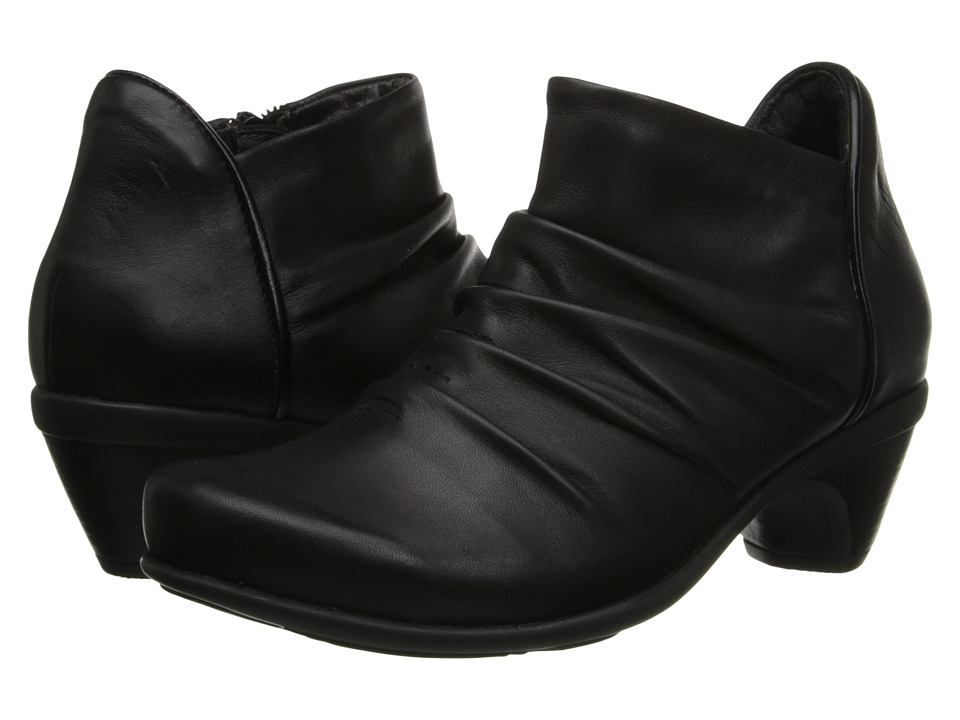 Naot Advance (Jet Black Leather/Black Madras Leather) Women's Zip Boots