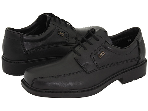 Rieker - 12820 Matt 20 (Black Leather) Men's Lace-up Bicycle Toe Shoes