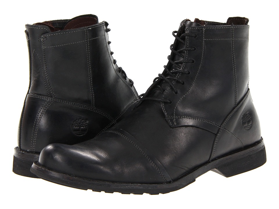 Timberland Earthkeepers 6 Zip Boot (Burnished Black) Men