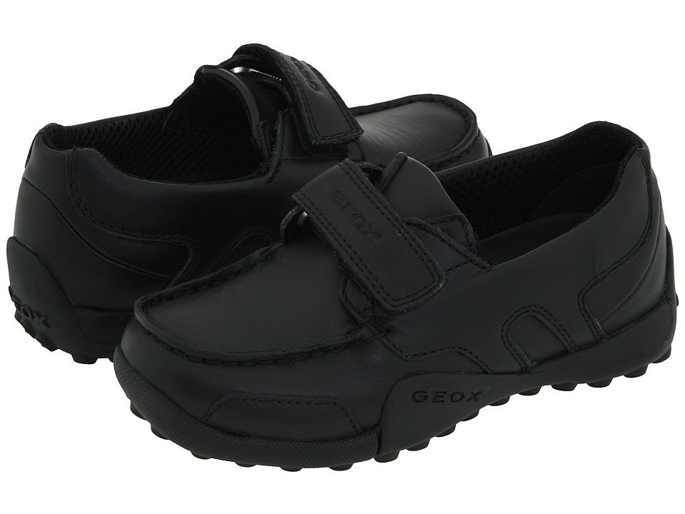 Geox Kids - Jr. Snake Moc (Toddler) (Black) Boys Shoes