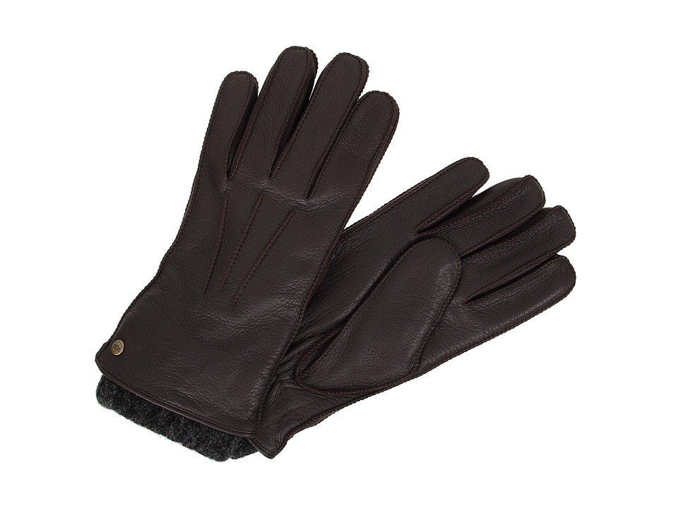 UGG - 2-in-1 Whipstitched Glove (Brown Multi) Dress Gloves