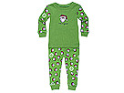 Life is good Kids - Two Peace Long Sleeve (Infant) (Santa Jake on Green) - Apparel