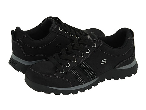 SKECHERS - Replenish (Black Suede) Women's Lace up casual Shoes