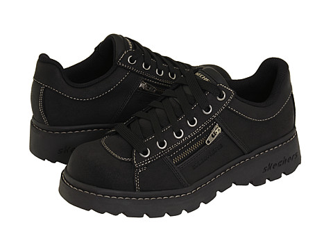 SKECHERS - Tredds - Interactive (Black Scuff) Women's Lace-up Boots