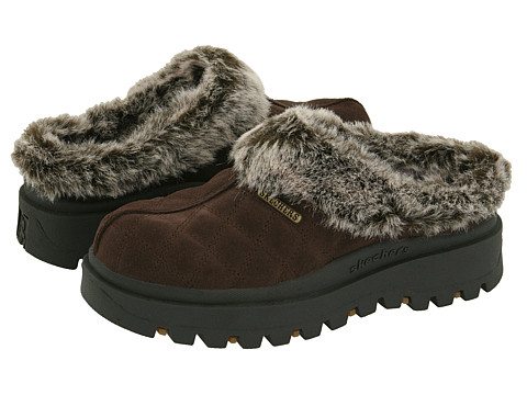 SKECHERS - Shindigs - Miracle (Chocolate Suede/Faux-fur Lining) Women