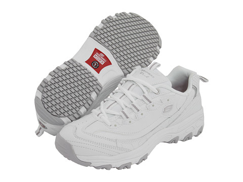SKECHERS Work - D'Lite SR (White Leather) Women's Industrial Shoes