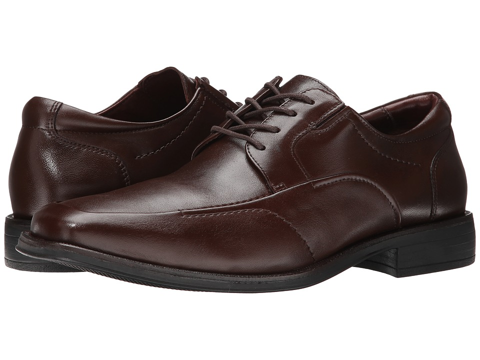 Johnston & Murphy - Stricklin Moc Lace-Up (Mahogany Calf) Men's Lace Up Moc Toe Shoes