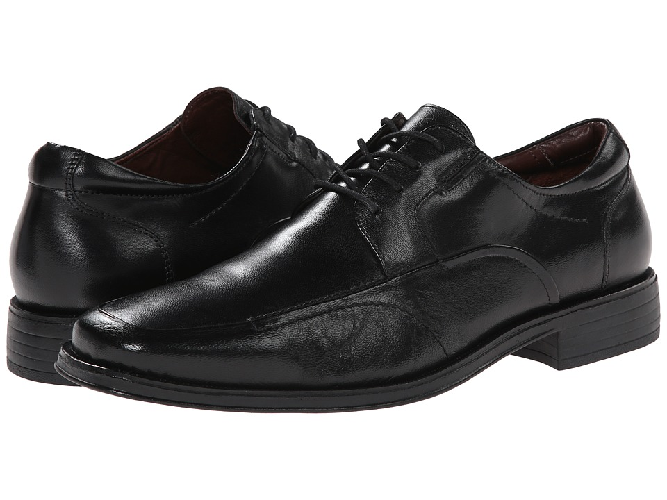 Johnston & Murphy - Stricklin Moc Lace-Up (Black Calf) Men's Lace Up Moc Toe Shoes