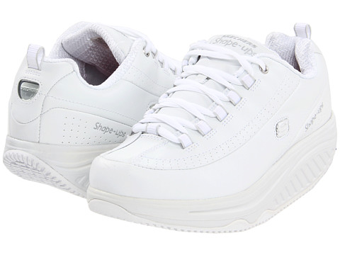 SKECHERS Work - Slip Resistant Shape Ups (White/White) Women's Lace up casual Shoes