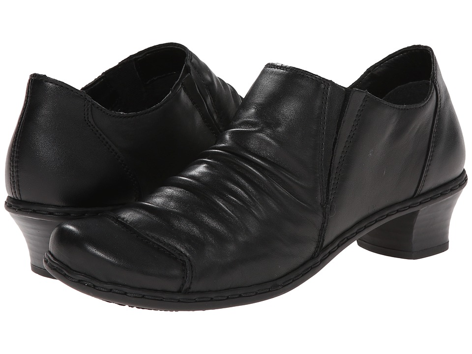 Rieker - 52180 Louise 80 (Black) Women's Slip on Shoes