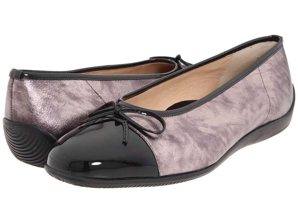 ara - Bella (Black Graphite) Women's Dress Flat Shoes