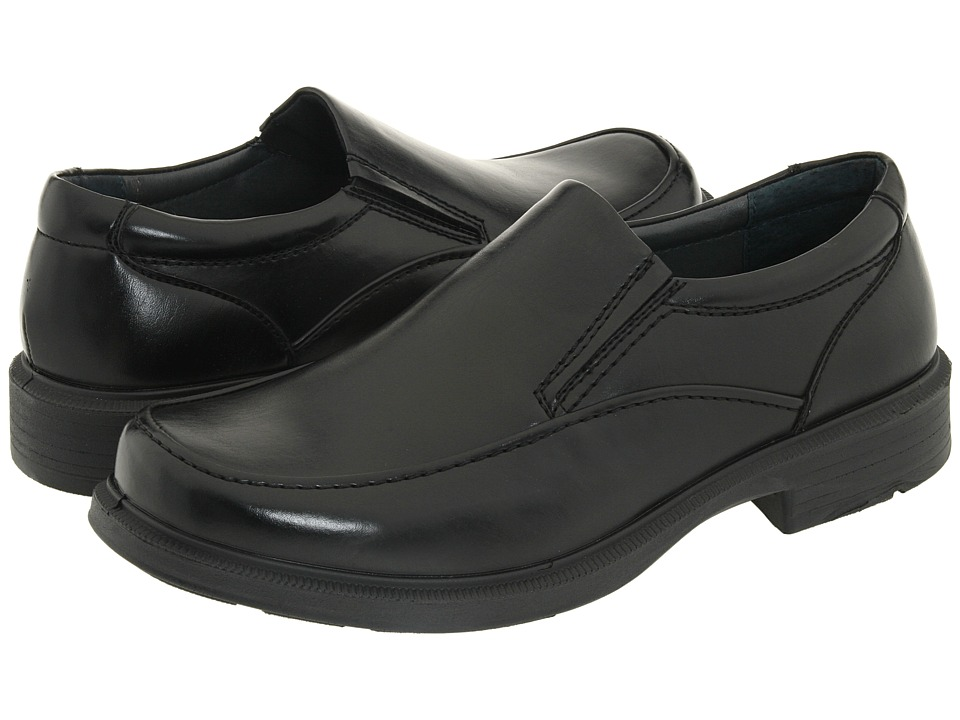 Deer Stags - Brooklyn (Black Burnished Leather) Men's Slip on Shoes