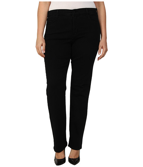 NYDJ Plus Size - Plus Size Marilyn Straight in Black (Black) Women's Jeans