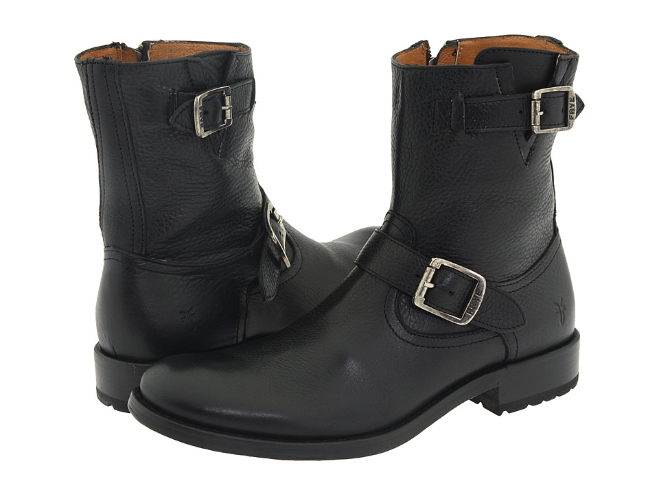 Frye - Jackson Inside Zip (Black) Men's Pull-on Boots