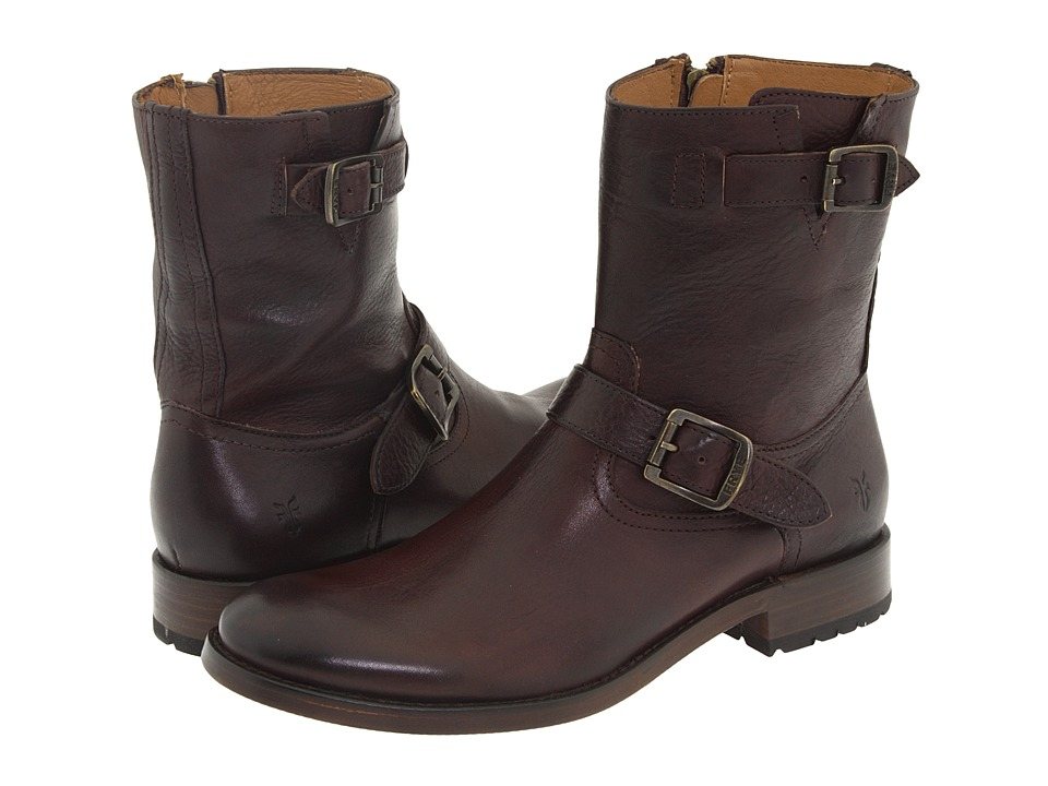 Frye - Jackson Inside Zip (Dark Brown) Men's Pull-on Boots