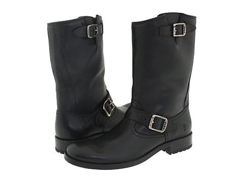 Frye - Jackson Engineer (Black) Cowboy Boots