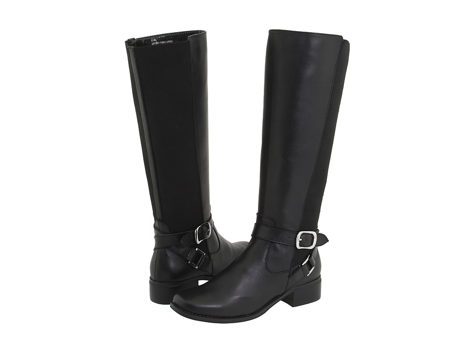 Fitzwell - Mentor/Wide Calf Boot (Black Burnished Leather) Women