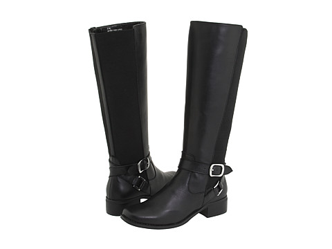 Fitzwell - Mentor/Wide Calf Boot (Black Burnished Leather) Women's Boots