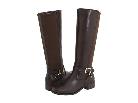 Fitzwell - Mentor/Wide Calf Boot (Brown Burnished Leather) Women's Boots