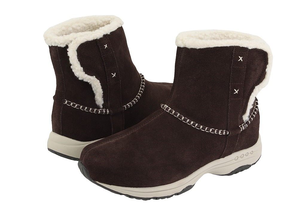 Easy Spirit - Taurus (Brown/Light Natural Suede) Women's Pull-on Boots