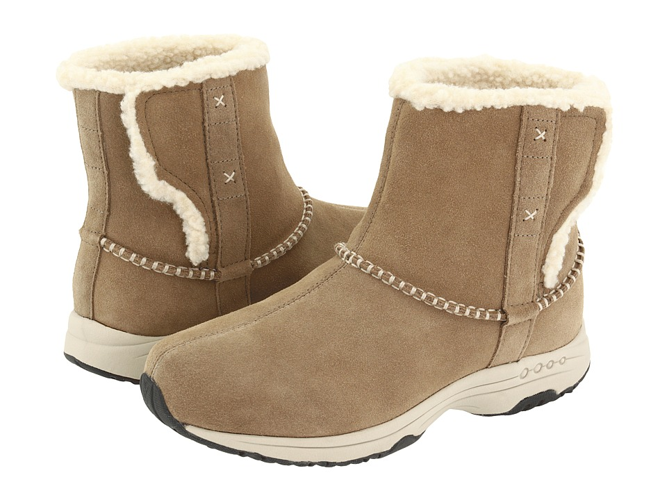 Easy Spirit - Taurus (Medium Taupe/Light Natural Suede) Women's Pull-on Boots