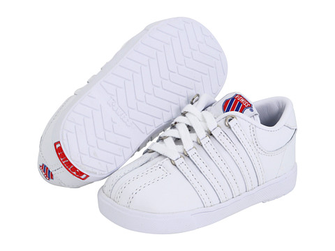 K-Swiss Kids - Classic Leather Tennis Shoe Core (Infant/Toddler) (White) Kids Shoes