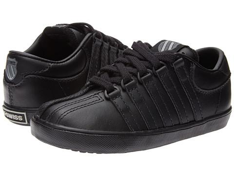 K-Swiss Kids - Classic Leather Tennis Shoe Core (Infant/Toddler) (Black) Kids Shoes