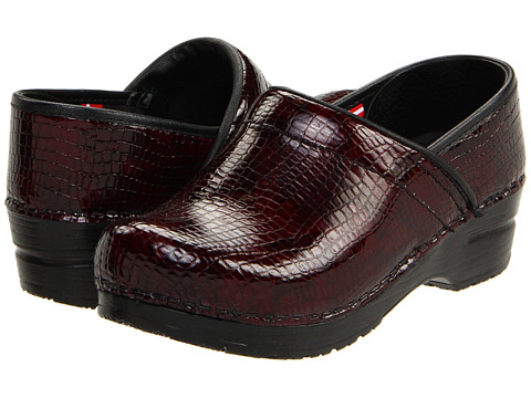 Sanita - Professional Croco (Bordo Faux Croco) Women's Clog Shoes