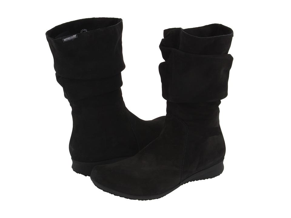 Mephisto - Fiffi (Black Bucksoft) Women's Zip Boots