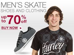 Men's Skate Shoes and Clothing Up to 70% off